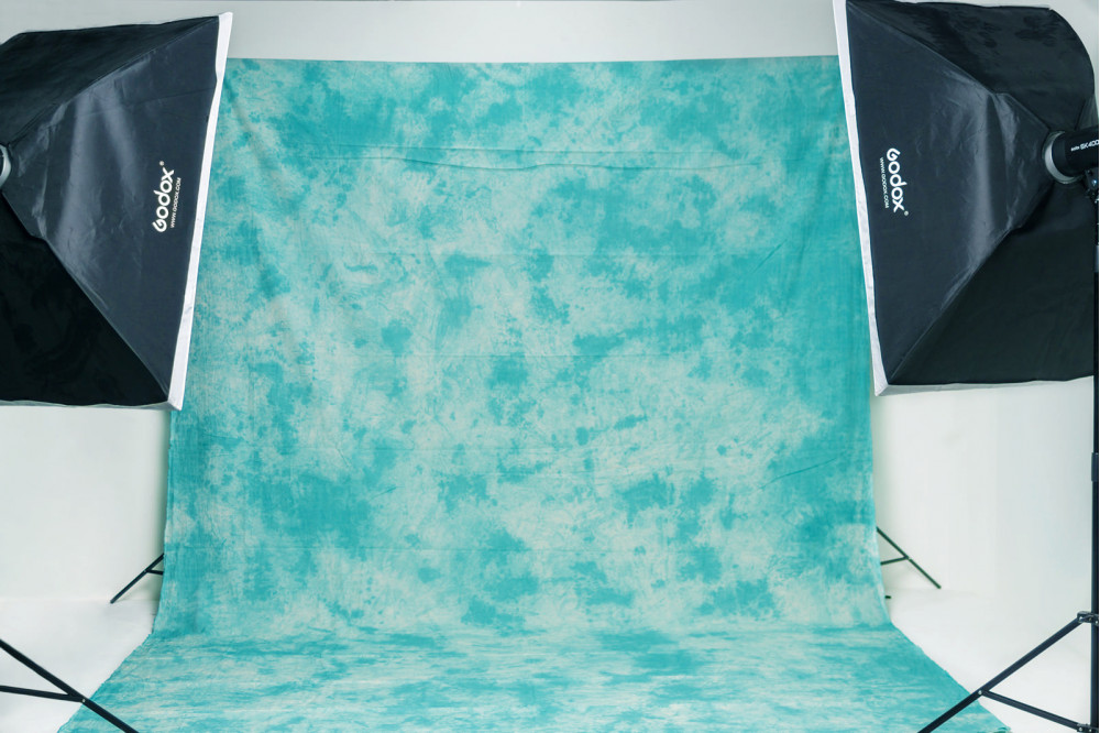 Фон дымчатый сине-зеленый Морская Волна