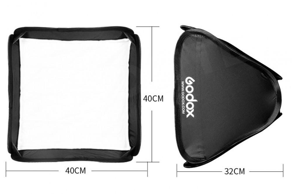 Мобильный софтбокс для накамерной вспышки 40x40 см