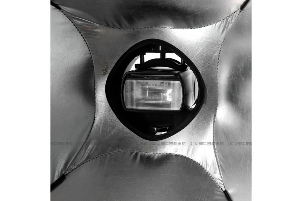 Мобильный софтбокс для накамерной вспышки 60x60 см