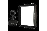 Мобильный софтбокс для накамерной вспышки 80x80 см