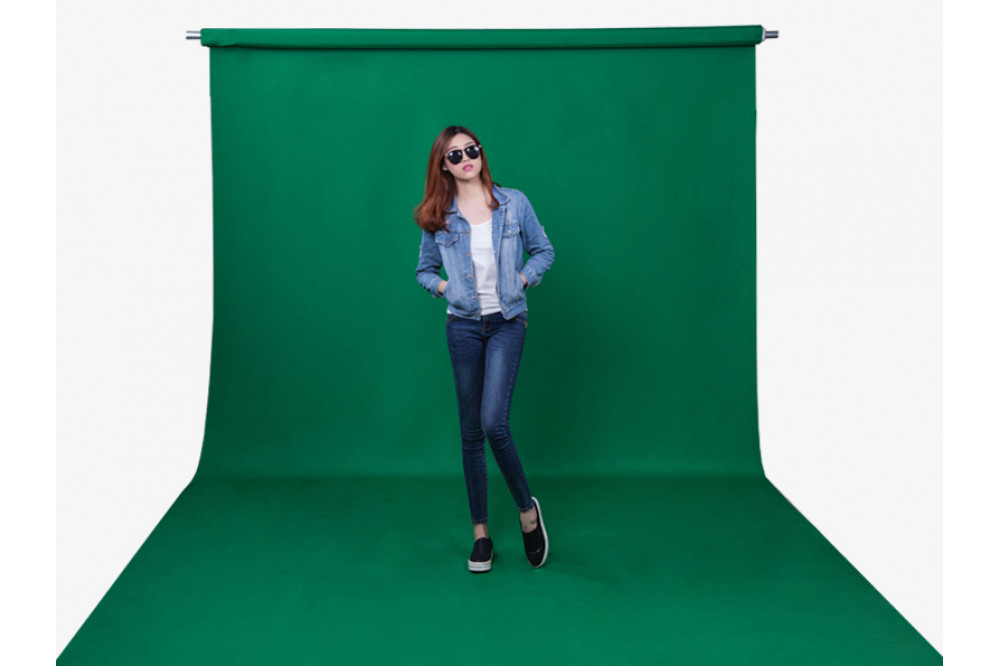Хромакей, фон зеленый 1.5х2.5м
