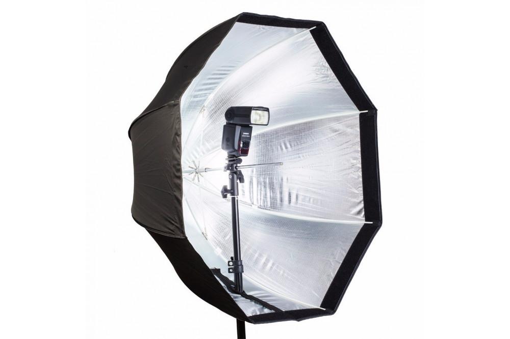 Октобокс зонтичный для накамерной вспышки 80 см