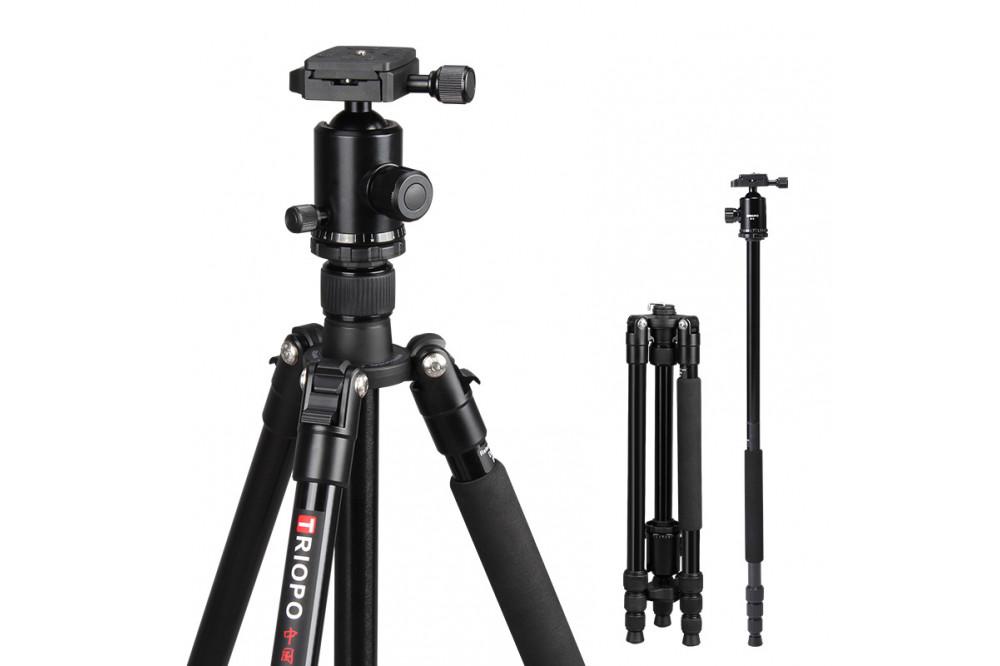 Шаровый штатив монопод для фотоаппарата, смартфона экшн-видео камеры 160 см