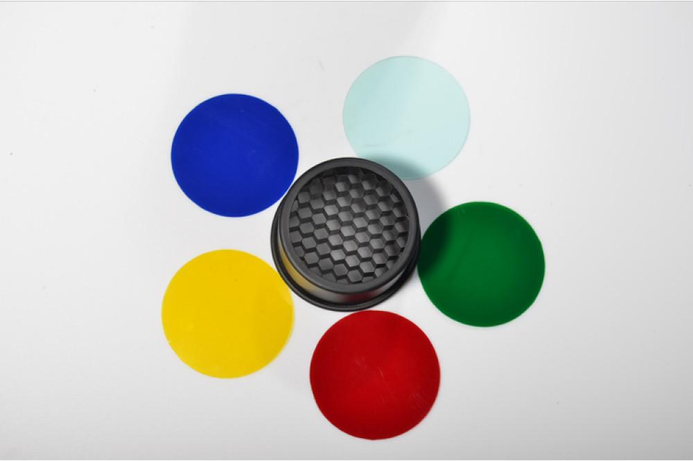 Тубус с сотами и цветными фильтрами