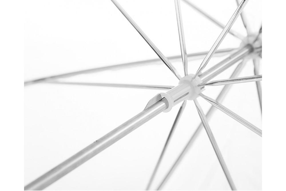 Зонт на просвет, белый 33 дюйма, 83 см